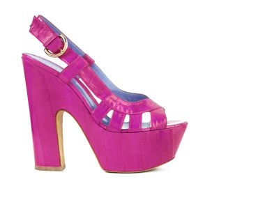 Eel-skin Platform Platforms italian shoes designer Sergio Rossi