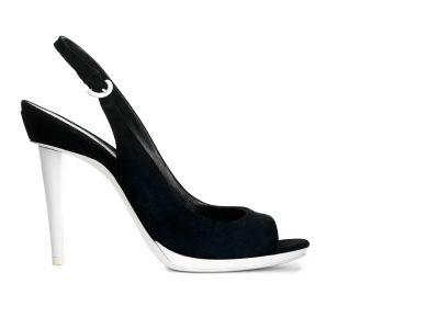 Peep-toe Slingback Sandals italian shoes designer Sergio Rossi