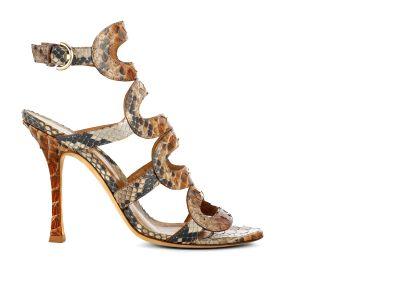 Python Paint Sandal Sandals italian shoes designer Sergio Rossi