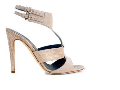 Suede Crocodile Sandal Sandals italian shoes designer Sergio Rossi
