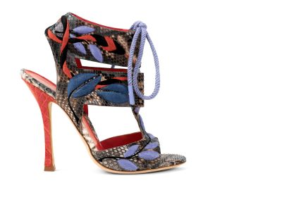Python Sandal Hand Embroidered Sandals italian shoes designer Sergio Rossi