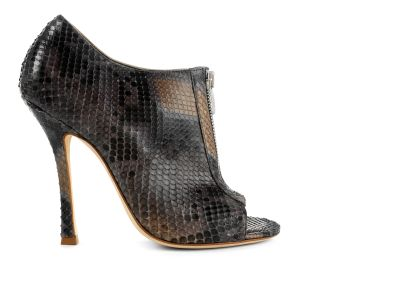 Python Sandal Peep toes italian shoes designer Sergio Rossi