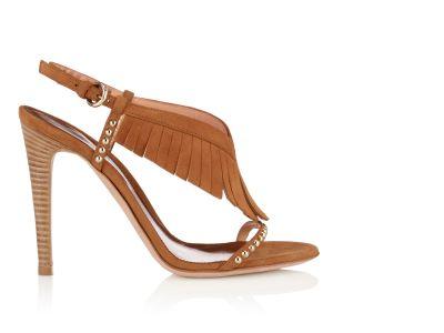 Erika Fringe Stud Sandals italian shoes designer Sergio Rossi