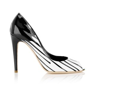 Splash Paintdrip Peep Toe Pumps italian shoes designer Sergio Rossi