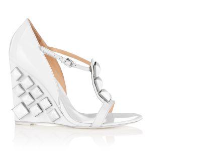 Loredana Stud Wedge Wedges italian shoes designer Sergio Rossi :  sergio rossi shoes patent heel