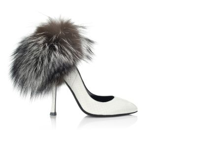 Silver Fox Pump Pumps italian shoes designer Sergio Rossi :  patent leather pumps shoes pump